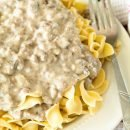 Hamburger Stroganoff is a class comfort food the whole family will love!