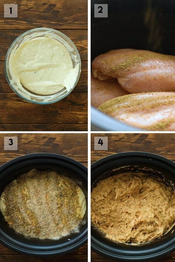 crockpot italian chicken Collage