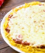 Spagehtti Pie in pie plate