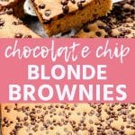 Pin Image for Blonde Brownies