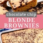 Pinterest Collage showing blonde brownies