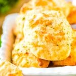 Cheddar Bay Biscuits in white bowl