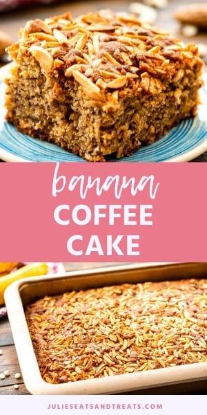 pin image for banana coffee cake