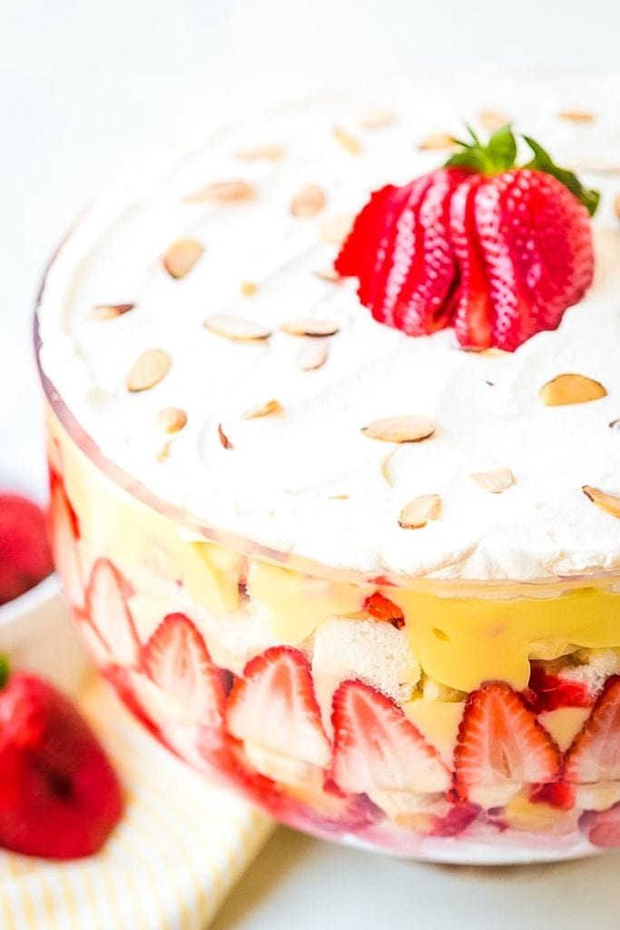 Banana Split Trifle in bowl
