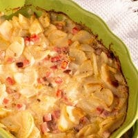 Scalloped Potatoes with Ham & Cheese ~ Delicious, Homemade Scalloped Potatoes Layered with Ham & Cheese! The Perfect Comfort Food Dinner!