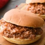 Crock Pot Pulled Pork in bun