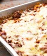 Spasagna Casserole in pan
