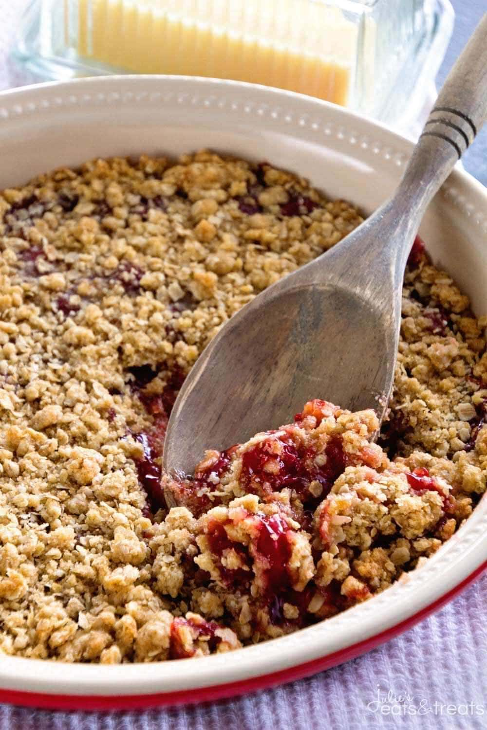 Cherry Crumble - Julie's Eats & Treats |Cherry Pie With Crumb Topping