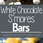 White Chocolate S'mores Bars ~ The Ultimate Treat! These Gooey Cake Bars are a Delicious Twist on a S'mores Bar!