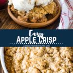 Apple Crisp Recipe Pinterest Image
