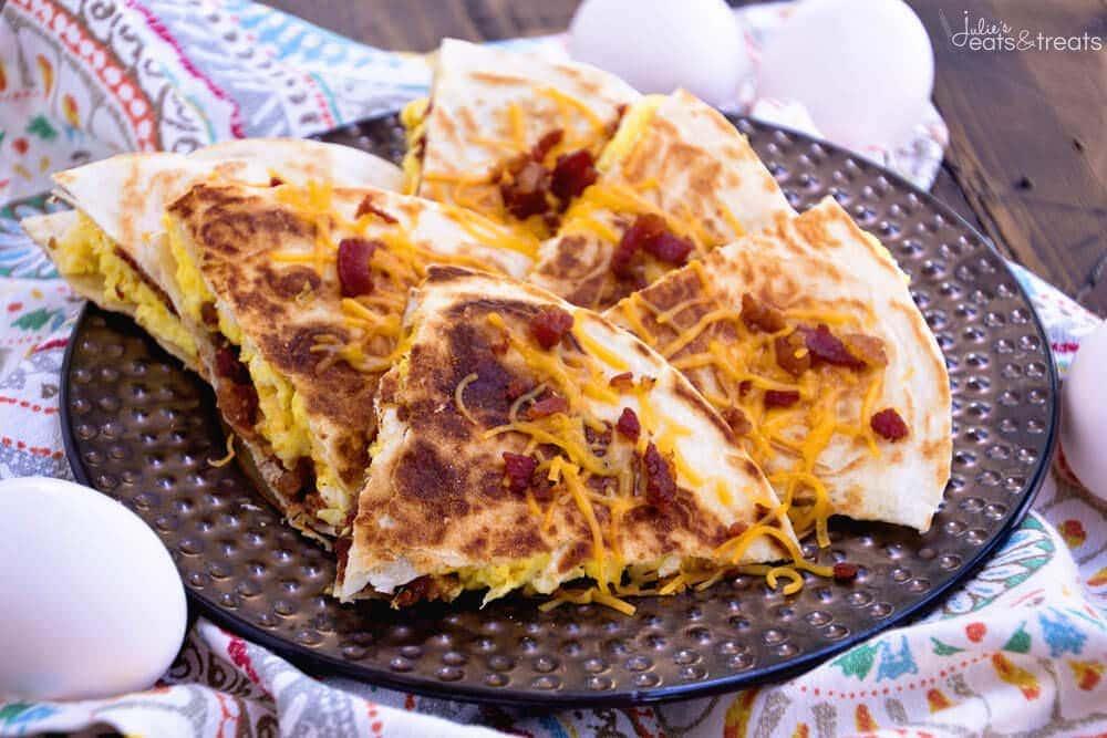 Bacon Egg & Cheese Quesadillas Recipe - Julie's Eats & Treats