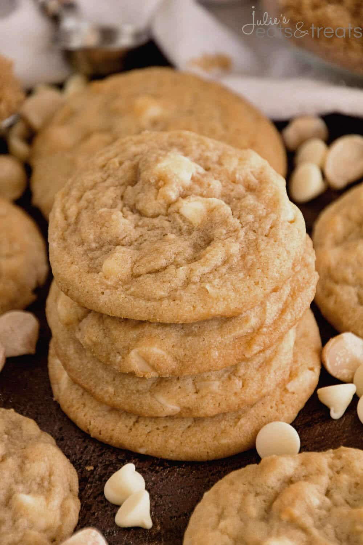White Chocolate Macadamia Nut Cookies - Julie's Eats & Treats