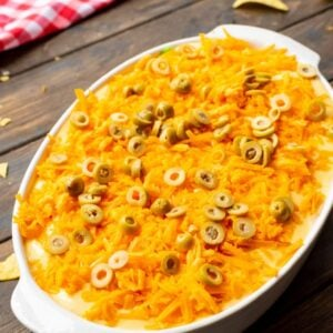 Easy Haystack Casserole in white dish