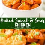 Baked Sweet Sour Chicken Pinterest Image
