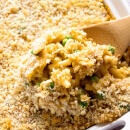 Tuna Macaroni Casserole Recipe ~ Traditional, Comforting Casserole From Grandma's Recipe Box! The Kids Will Love This Dressed Up Mac & Cheese Casserole Recipe!