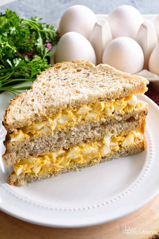 Deviled Egg Salad Sandwiches ~ Your Favorite Deviled Eggs Piled onto a ...