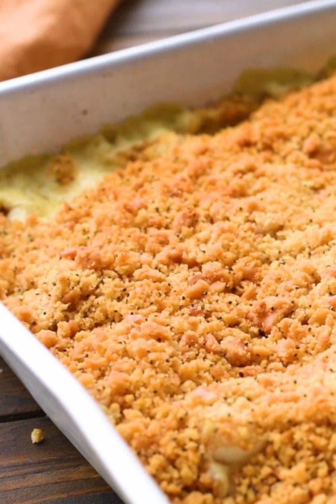 Poppy Seed Chicken Recipe prepared in pan