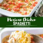 Mexican Chicken Spaghetti Pinterest