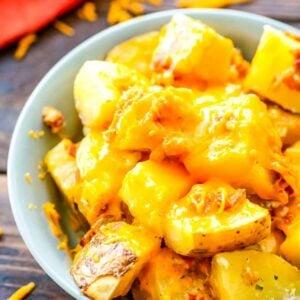 Crack Potatoes prepared in bowl
