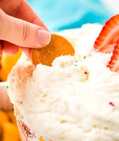 Cracker scooping Funfetti Dip Recipe