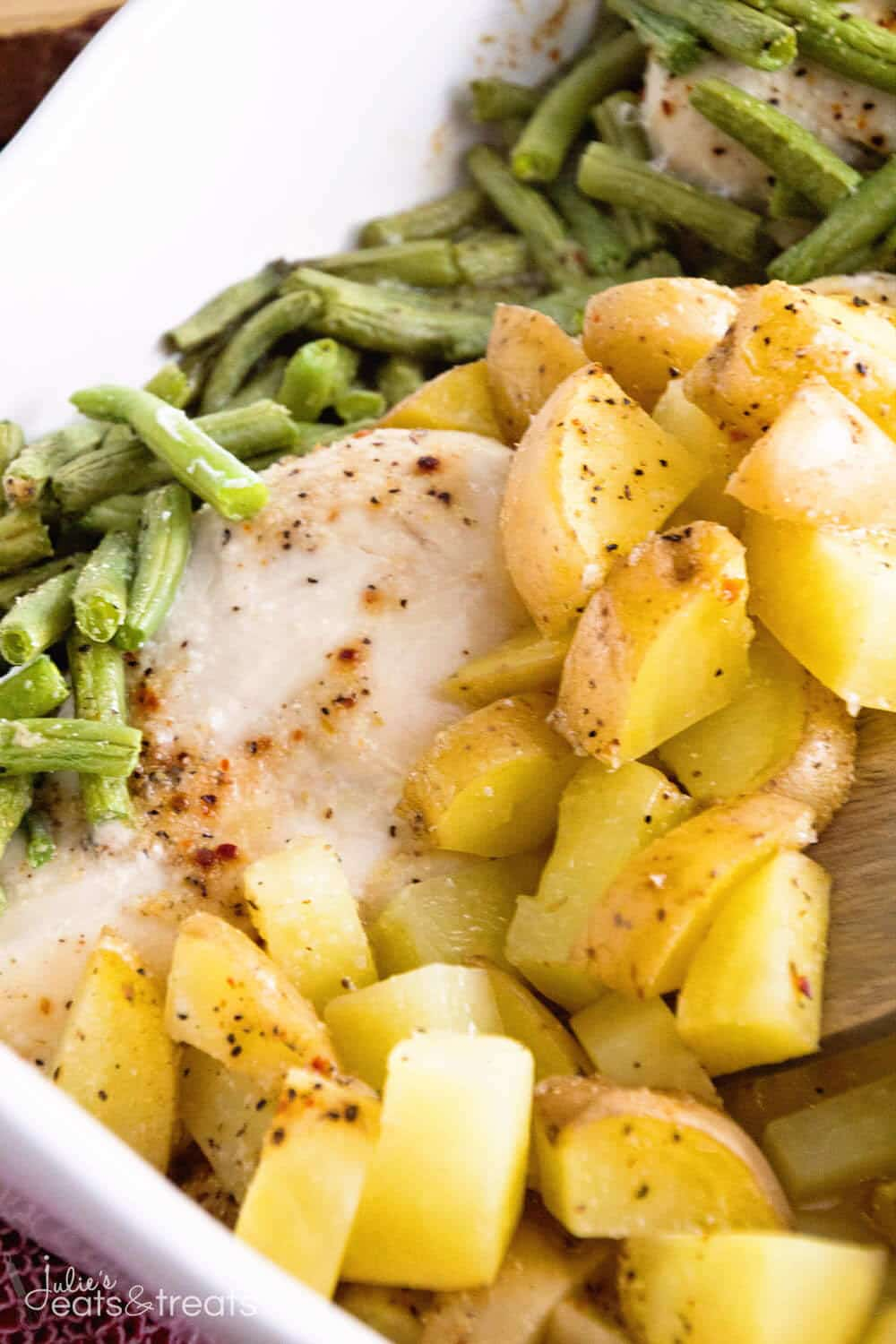 chicken potatoes and green beans in one dish