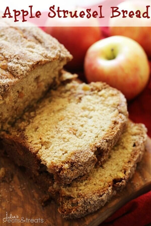 Apple Struesel Bread ~ Quick and Easy Bread Loaded with Apples and Cinnamon!