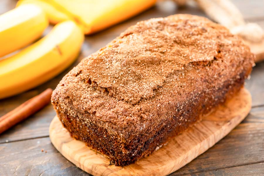 Loaf of Cinnamon Banana Bread Recipe