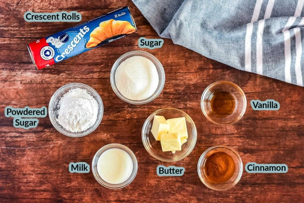 Overhead image showing all the ingredients needed to make recipe