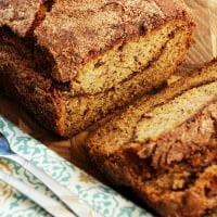 Cinnamon Swirl Banana Bread ~ Delicious, Easy Banana Bread with a Cinnamon Swirl and Cinnamon Sugar Topping!