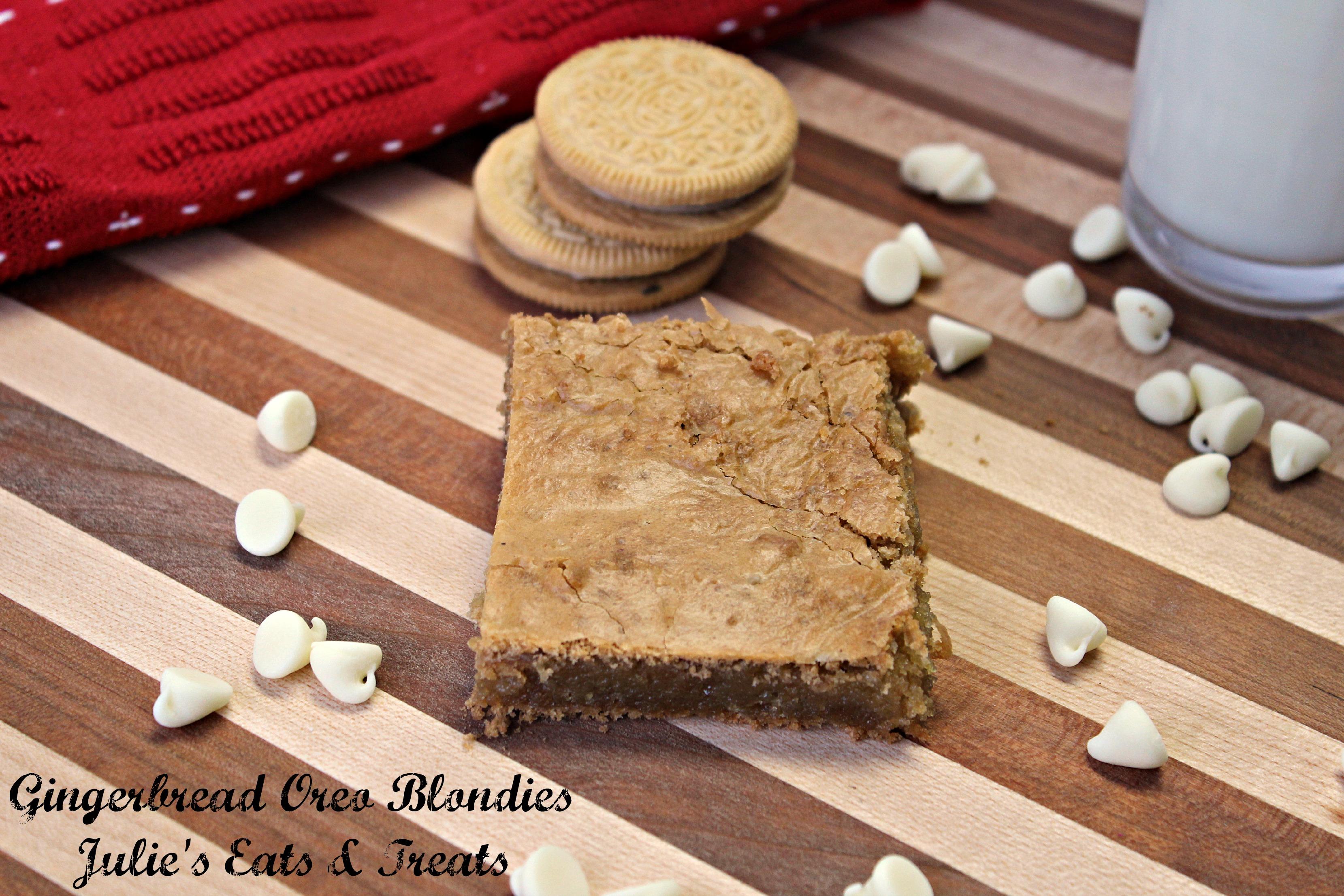 Gingerbread Oreo Blondies - Julie's Eats & Treats