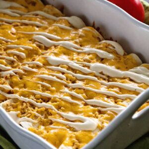 Chicken Ranch Enchiladas ~ Jazz Up Your Weeknight Dinner Enchiladas with a Ranch Twist! Delicious, Easy and Addictive!
