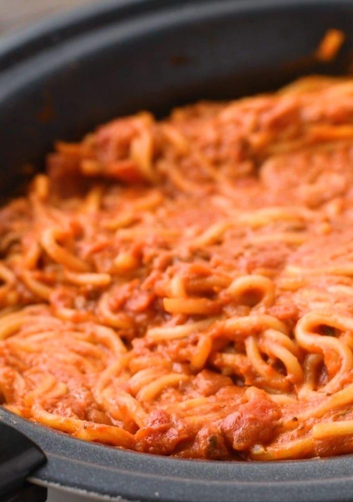 Crock Pot Spaghetti in Crock Pot