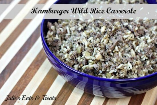 Hamburger Wild Hamburger Wild Rice Casserole ~ www.julieseatsandtreats.com #recipeRice Casserole