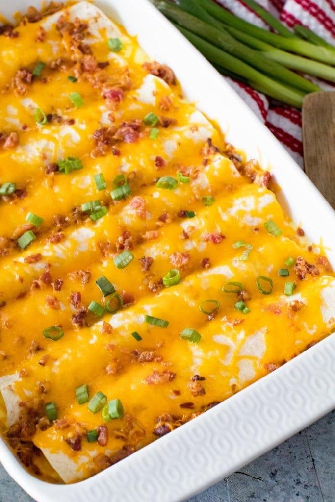 Breakfast Enchiladas Overhead