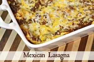 Mexican Lasagna ~ Lasagna with a little spice in it! www.julieseatsandtreats.com #recipe