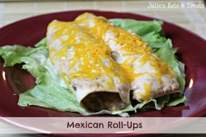 Mexican Roll-Ups ~ Tortillas stuffed full of beef, sour cream and salsa! www.julieseatsandtreats.com #recipe #mexican