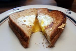 Cheesy Egg in a Hole