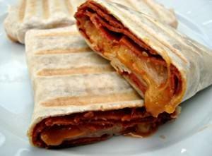 Grilled Pizza Burrito