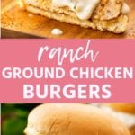RANCH GROUND CHICKEN BURGERS Pins