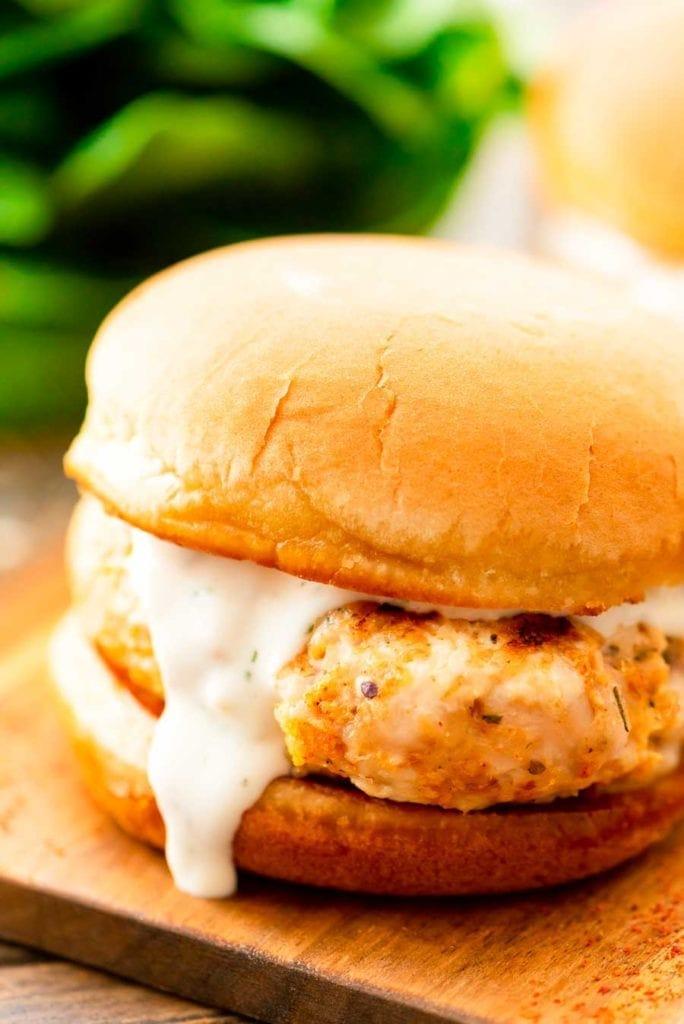 Ranch Ground Chicken Burger