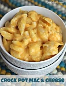 Crock Pot Mac & Cheese ~ Easy, Creamy, Deliciousness! via www.julieseatsandtreats.com #recipe #crockpot