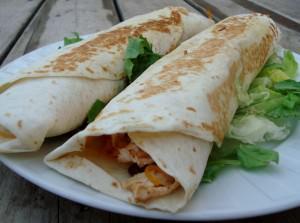 Crispy Chicken Burrito