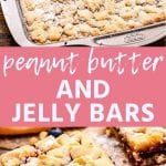 Pin Image for Peanut Butter and Jelly Bars