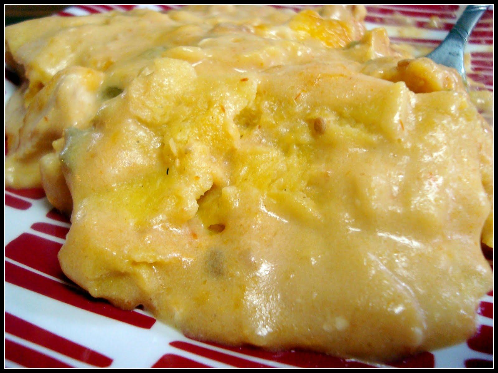 Simple & Creamy Chicken Tortilla Casserole