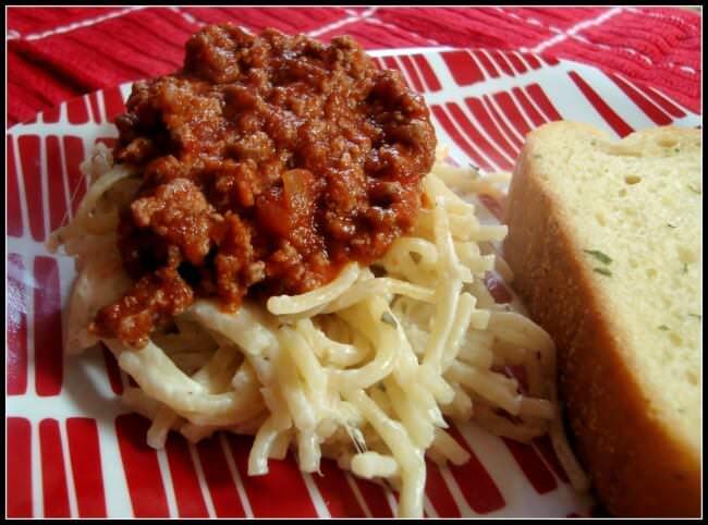 Spasanga ~ Perfect mixture of Spaghetiti & Lasagna