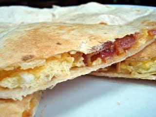 Bacon Egg Cheese Quesidillas
