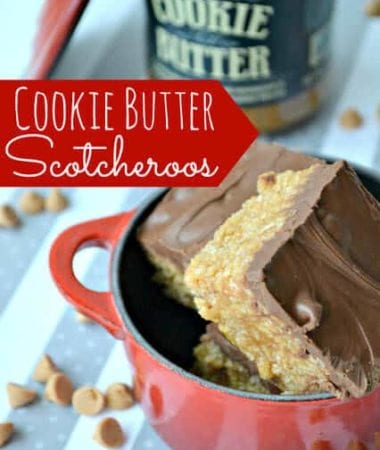 Cookie Butter Scotcheroos Guest Post from Lemon Tree Dwelling via www.julieseatsandtreats.com