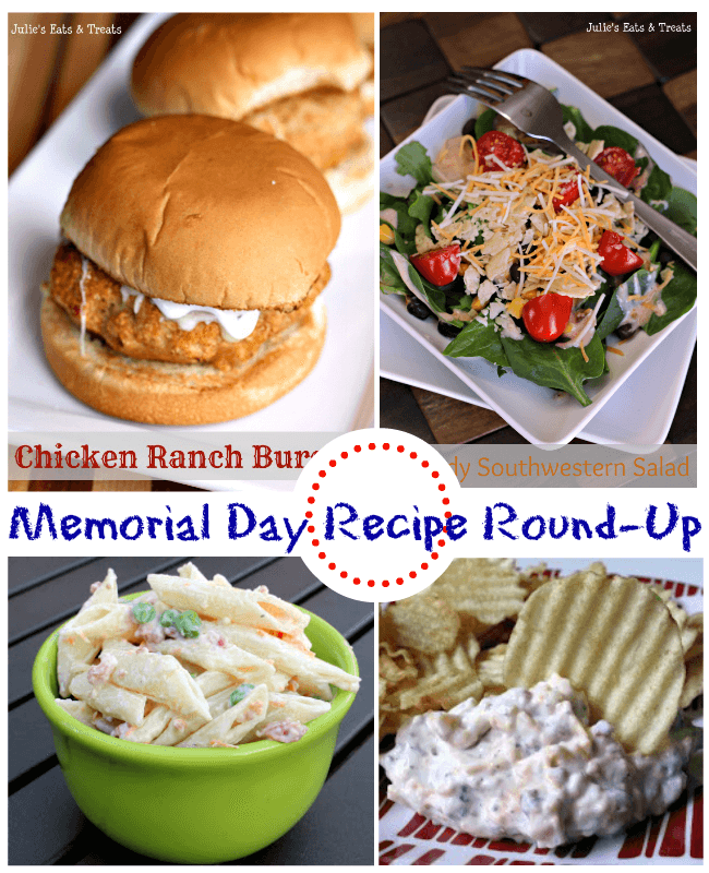 Memorial Day Recipe Round Up via www.julieseatsandtreats.com
