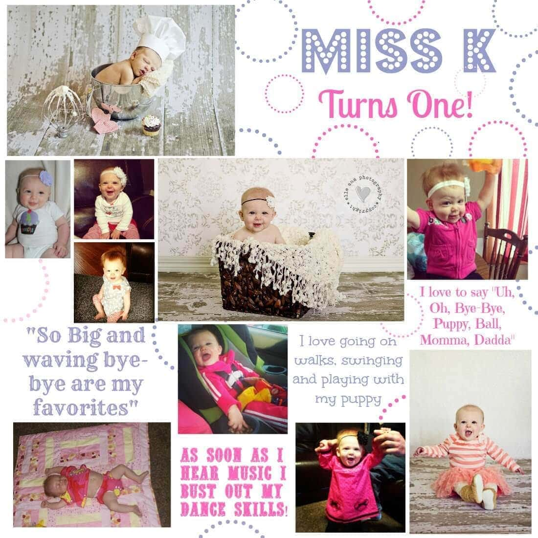 Miss K turns One! I vow to make the time to be the best Mom ever little girl :) via www.julieseatsandtreats.com