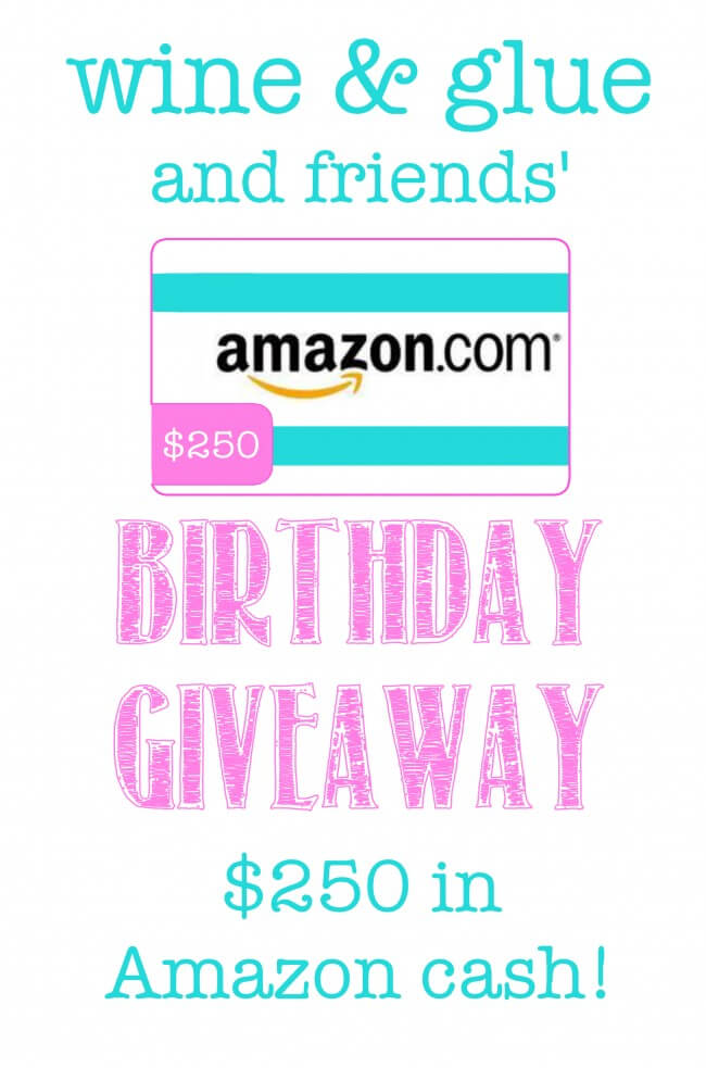 Amazon Giveaway for Lisa @ www.wineandglue.com via www.julieseatsandtreats.com